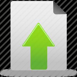 document, file, upload, upload document icon