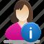 female, female user info, girl, info, student, user icon