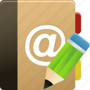 addressbook, edit, phonebook icon