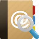 addressbook, phonebook, search icon