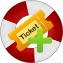 add, create, help, help center, ticket icon