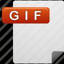 document, file, gif, gif file icon