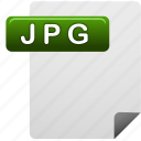 document, file, jpg, jpg file icon