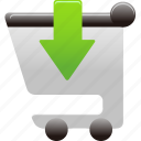 cart, insert, shopping, shopping cart icon