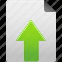 document, upload, upload file icon