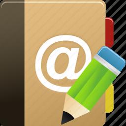 addressbook, edit, phonebook icon