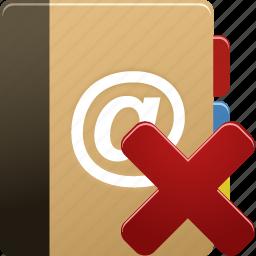 addressbook, delete, phonebook, remove icon