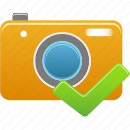accept, camera, check icon