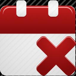 calendar, delete, event, remove icon