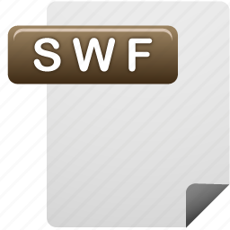 document, file, swf, swf file icon