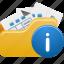 files, folder, info, open icon