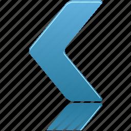 left, navigate icon