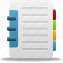 addressbook, book, catalog, phonebook icon