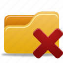 delete, delete folder, folder icon