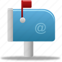 mailbox, flag, email