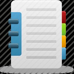 addressbook, book, catalog, phonebook icon