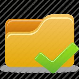 accept, check, comfirm, folder icon