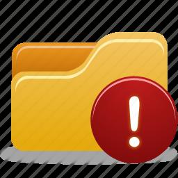 folder, folder warning, warning icon
