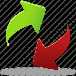 arrows, order, refresh icon