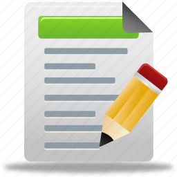 document, edit, file, tests icon