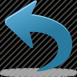 arrow, left, undo icon