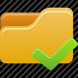 accept, folder icon
