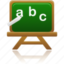 education, learning, lessons, letters, school, student, study, training icon