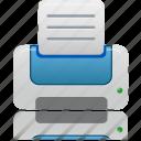 blue, printer, paper, document, file, print, documents