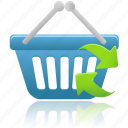 basket, business, buy, cart, ecommerce, refresh, shopping icon