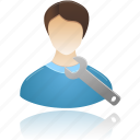 group, male, man, people, profile, settings, skills, tool, tools, user, users icon