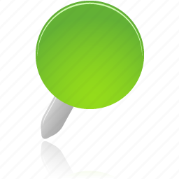 green, pin icon
