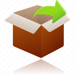 box, gift, open, present, shopping, uncompress icon