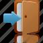 door, login icon