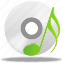 music, sound, note, play, disc, audio icon