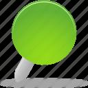 pin, green
