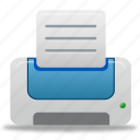 blue, printer, paper, document, file, print, documents icon