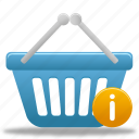 basket, buy, cart, ecommerce, info, information, shopping, webshop icon