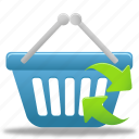 basket, shopping, refresh, buy, ecommerce, cart, webshop, business icon