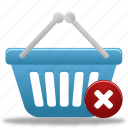 basket, business, buy, cart, delete, ecommerce, remove, shopping icon