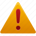 warning, exclamation, attention, alert, error, message, problem, danger icon