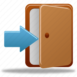 door, login in icon