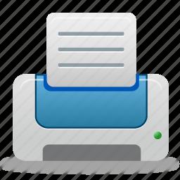 blue, document, documents, file, paper, print, printer icon