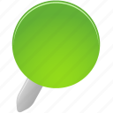 green, pin icon