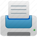 blue, printer icon