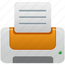 orange, printer icon