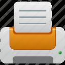 orange, printer icon
