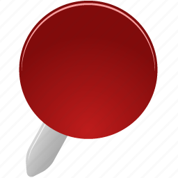 pin, red icon