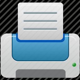 blue, printer icon