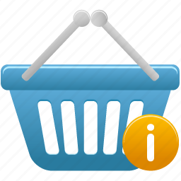 basket, info, shopping icon