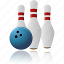 bowling, play, sport, tenpins, throw icon